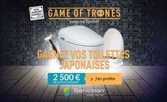 #Concours Game Of Trônes : Grand tirage au sort pour remporter des toilettes japonaises avec Mon Magasin Général ! #GameOfTrônesMMG #MonMagasinGeneral