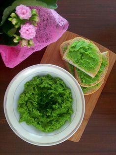 Pasta z zielonego groszku.