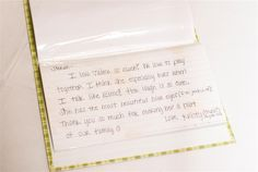 Notes to child's birthmom from our family and extended family -- love this idea
