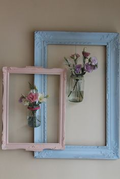 Trendy wall art diy vintage home decor Quirky Home Decor, Easy Home Decor, Diy Home Crafts, Handmade Home Decor, Vintage Home Decor, Picture Frame Decor, Deco Floral, Frame Crafts, Diy Wall Art