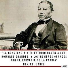 Frase de Benito Juárez sobre el estudio y la Patria.