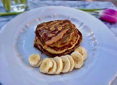 Flourless Peanut Butter and Banana Pancakes