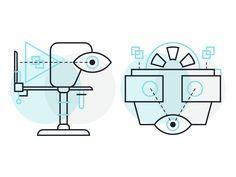 Virtual reality illustrations.