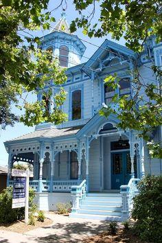 Santa Cruz, CA blue Victorian.