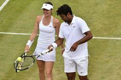 Leander Paes' 16th grand slam and Martina Hingis win in 17 years. Brilliant Tennis. Doubles winners in just 40 minutes !