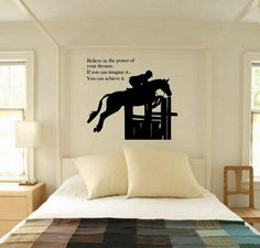 Horse Decal Horse Quote Decal Horse Wall by Artistryofthehorse Horse Wall Decals, Vinyl Wall Decals, Amber Room, Horse Bedding, Equestrian Decor, Equestrian Quotes, Horse Quotes, New Room, Horses