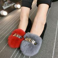 Женщины 2015 зима новое поступление настоящее кролика волосы теплый снег плоские туфли-boat обувь лианы платформы мокасины мокасины сперри