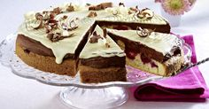 Double chocolate raspberry sponge cake