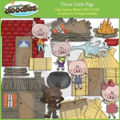 Three Little Pigs Clip Art Download