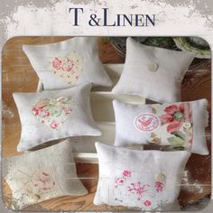 Lavender bags and vintage floral faded french fabrics, love them.