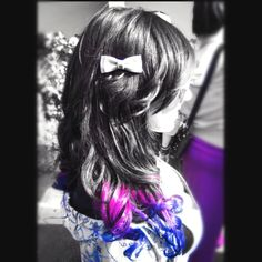 Color Hair Ombre Purple Pink Blue