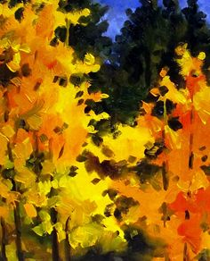 "autumn in colorado | FALL IN COLORADO,"" 10142, daily painter original landscape © Carol ..."