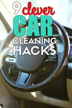9 car cleaning hacks that will keep the interior of your car sparkling clean and organized! Easy car hacks you must try. Car Cleaning Hacks, Best Cleaning Products, Car Life Hacks, Car Facts, Car Smell, Car Essentials, Organizing, Organization, Car Vacuum