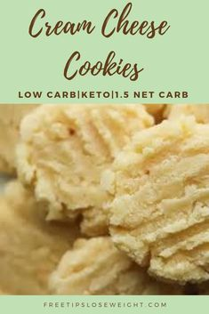 Low Carb Cream Cheese Cookies Recipe For Keto 1 5 NET CARBS ketorecipes cookiesrecipes lowcarb keto Keto Cookies, No Flour Cookies, Cookies Et Biscuits, Chip Cookies, Coconut Flour Cookies, Keto Cookie Dough, Lemon Shortbread Cookies, Keto Peanut Butter Cookies, Sugar Free Cookies
