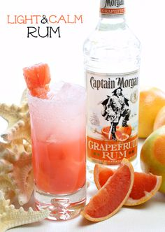 This is the lighter version of a Dark & Stormy. A refreshing cocktail made with grapefruit rum, fresh grapefruit juice, & lemon-lime soda.