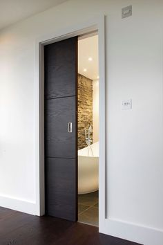 master bath, pocket door (do it grey...)