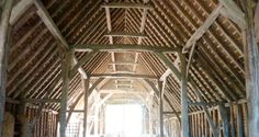 English tithe barn  |  Timber Trails:  Enabling DIY homeowners and supporting professional builders during your cabin, cottage, and tiny house projects.  Live Large -- Go Tiny!  > >  TimberTrails.TV Timber Buildings, Timber Frames, Enabling, House Projects, Architecture Details, Barns, Tiny House, Trail, Cottage