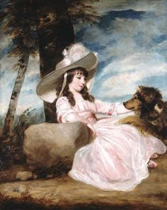 Joshua Reynolds, 'Portrait of Miss Anna Ward with Her Dog'.jpg