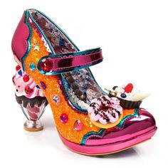Irregular Choice Ice And A Slice Womens Court Shoes - Orange Peach Source by txsuz boots Pretty Shoes, Beautiful Shoes, Cute Shoes, Me Too Shoes, Creative Shoes, Unique Shoes, Funky Shoes, Crazy Shoes, Irregular Choice Shoes