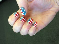 4th of July nails ;)