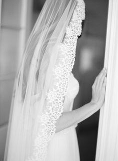 LOVE FIND CO The AZALIA / Chapel Length Mantilla Veil by Percy Handmade