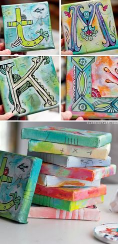 Tiny canvases and each student gets a letter.  Even an adult could pencil in the letters and the students paint them.  Could do the alphabet, or even spell out out words