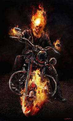 Ghost Rider: Spirit of Vengeance Concept Art by Jerad S. Comic Book Characters, Comic Book Heroes, Comic Character, Comic Books Art, Comic Art, Marvel Comics Art, Marvel Vs, Marvel Heroes, Captain Marvel