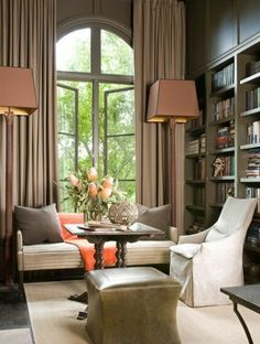 Oversized light fixtures. McAlpine Booth & Ferrier Interiors: large- scale floor lamps for rooms with soaring ceilings