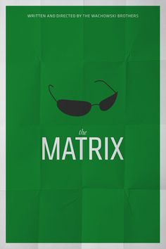 Minimal movie poster, The Matrix