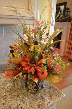 Colors Of Fall Arrangement. $48.00, via Etsy.