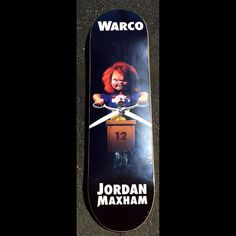 "Instagram #skateboarding photo by @ericeverettdesign - Warco Skateboards pro model ""Chucky"" board I designed for @jordanmaxham and on sale now! #graphicdesign #digitalart #art #skateboard #skateboarding #deck #chucky @warcoskateboards. Support your local skate shop: SkateboardCity.co"