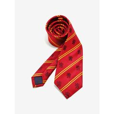 Harry Potter Gryffindor Pinstripe Red Silk Tie (£34) ❤ liked on Polyvore featuring men's fashion, men's accessories, men's neckwear, ties, men, ties and accessories, mens silk ties, mens ties and mens red tie