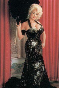 Dolly in Black Sparkle Halter - HOT DANG!