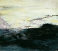 Zao Wou-Ki oil on canvas Landscape Artwork, Contemporary Landscape, Abstract Landscape, Abstract Art, Organic Art, Chinese Landscape, Land Art, Art Plastique, Chinese Art
