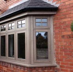 in Silvered Oak Bay Windows, Windows And Doors, 1930s House Exterior, Window Sill, Bay Window Designs, Window Frames, Bow Windows, Window Ledge