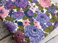 Vintage Home Dec Fabric-Purple Floral