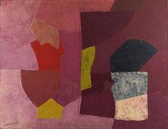 Serge Poliakoff – Composition mauve, violet et rose, 1954; Huile sur toile, 89x116 cm