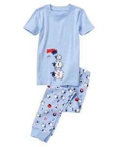 NWT Gymboree GYMMIES Bears Arrgh You Ready For Bed Snug Fit S//S 2PC Pajamas PJs