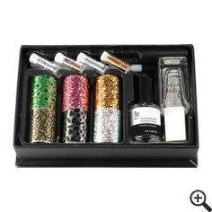 149710 | Kit nail art transferts foils et paillettes