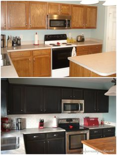 "Nice idea for a kitchen re-do on the cheap. Nice to see the before and after pictures considering our kitchen looks like the ""before"" shot."