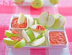 Apple Slices with Peanut Butter Dip are delicious if you are looking for easy fall recipes!