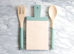 Paddle Cutting Board and Kitchen Utensil Set - Eucalyptus | Host Gift | Wood Cutting Board | Wood Spoon and Fork