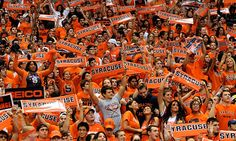 Syracuse Orange student section at the Carrier Dome.