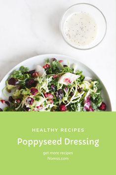 POPPYSEED DRESSING NOMSS.COM CANADA FOOD BLOG #ketorecipes #instamomss #friseesalad #PALEORECIPE #saladdressingrecipe #POPPYSEED