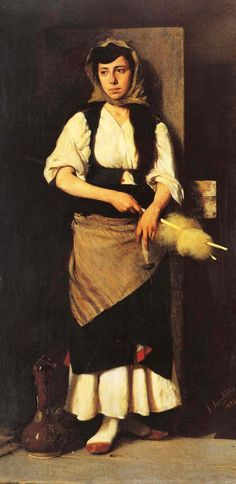 Georgios Jacovides Born in Lesbos, January Painting and sculpture he studied at the School of Fine Arts in Athens Navajo, Greek Traditional Dress, Greek Paintings, Classical Period, Greek Art, Art Database, Chiaroscuro, Light Art, Munich