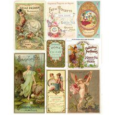 Vintage Labels - Perfume Labels - French Perfume Labels - Instant Download - Digital Collage Sheet - 1190 - Vintage Ephemera