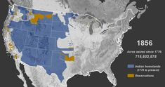 In Invasion of America, an animated map shows the loss of land.