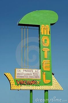Vintage Motel sign   Vintage Motel Sign Stock Images - Image: 1583004