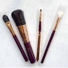"Selling this ""Pack of 4 Makeup Brushes"" in my Poshmark closet! My username is: giftsfromgabxo. #shopmycloset #poshmark #fashion #shopping #style #forsale #Jessup #Accessories"