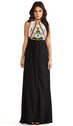 Mara Hoffman Embroidered Maxi Dress in Black | REVOLVE